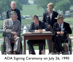 ADA Signing Ceremony on July 26, 1990