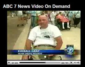 ABC 7 interviewing Kimball Gray