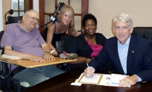 LEND staff and Virginia State Senator Mark Herring