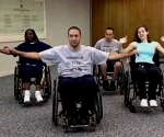 Wheelchair users exercising