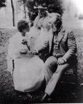 Annie Sullivan, Helen Keller, and Alexander Graham Bell