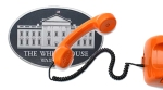The Whitehouse with a telephone superimposed