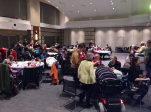 Holiday reception full room