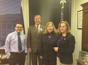 Del. Kaye Kory with ECNV staff