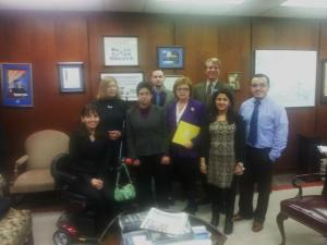 Legislative Aide of Sen. Richard Saslaw with ECNV staff.