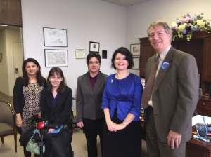 Sen. Barbara Favola with ECNV staff.